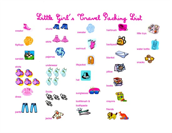 Summer Travel Packing List For Little Girls