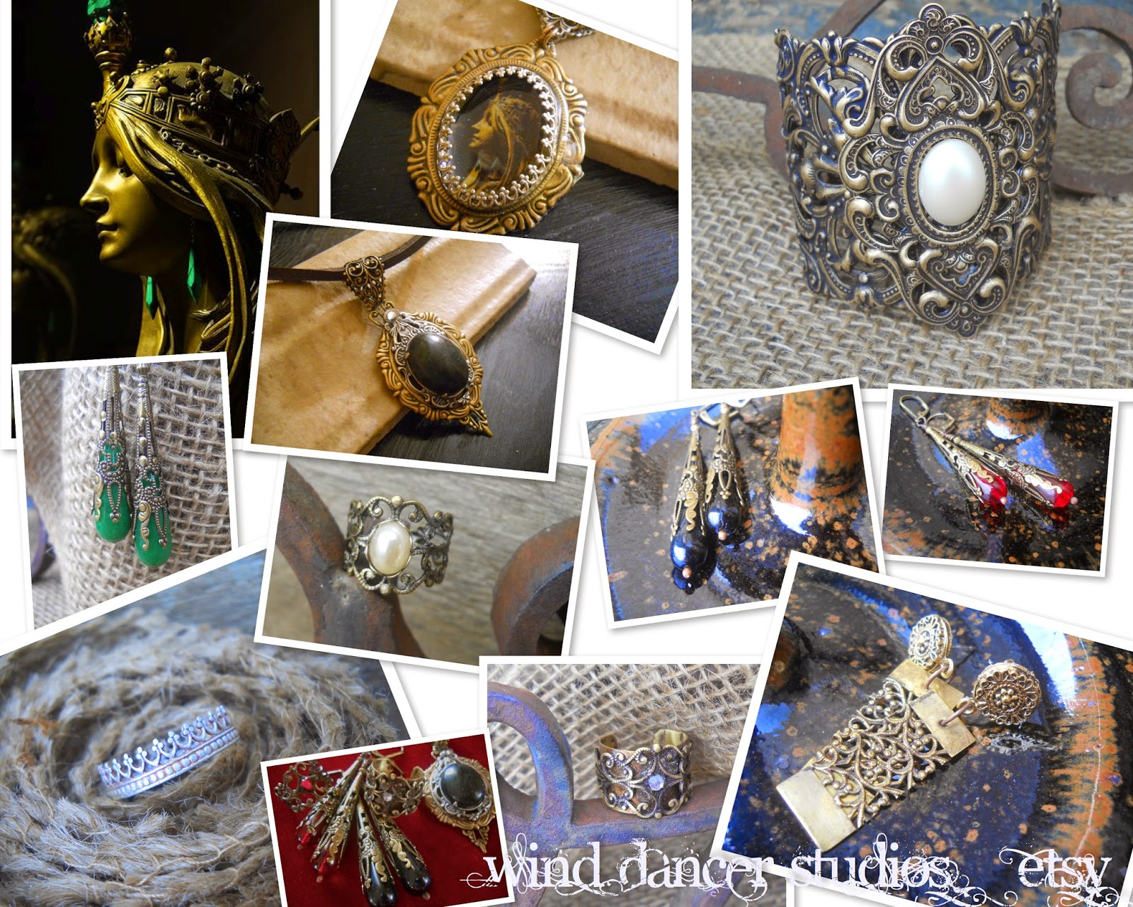mucha's musings:  mother nature collection, hand crafted jewelry by Wind Dancer Studios on Etsy