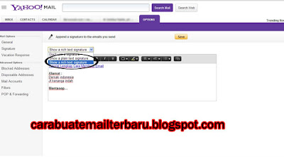 Cara Membuat Signature/Tanda Tangan Di Email Yahoo update 2013