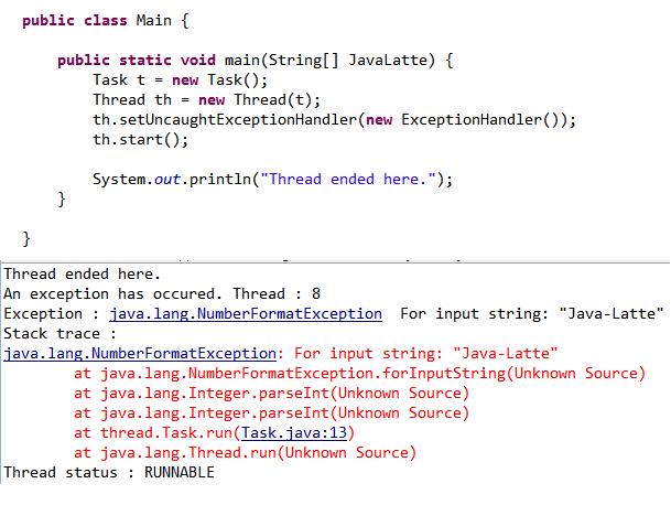 Java-Latte: UncaughtExceptionHandler in Java