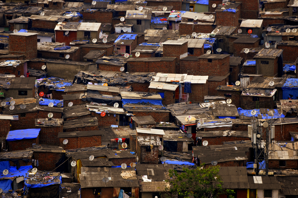 This is an India photo from Dharavi in Mumbai.