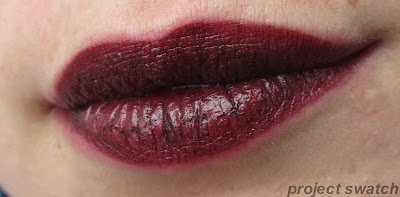 Milani Black Cherry Lipstick lip swatch