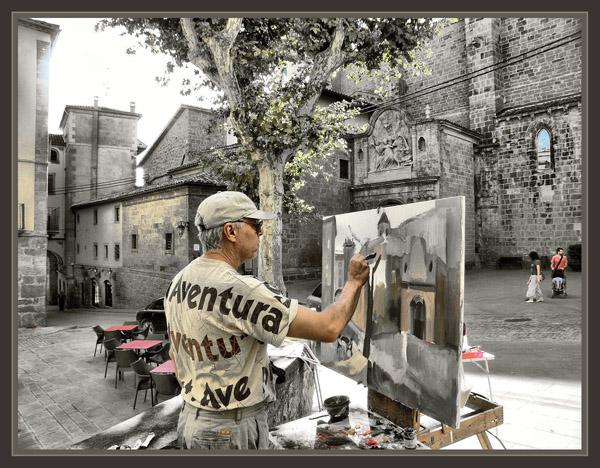 Ernest descals artista pintor pintura aire libre pintar - Pintores en lleida ...