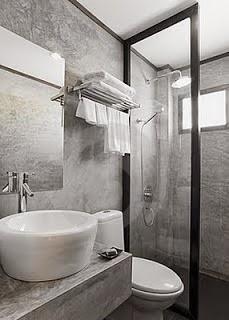 10 ba os en color gris y blanco modernos colores en casa for Banos pequenos con ducha modernos y elegante