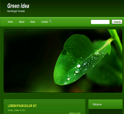 Green Idea blogger template, Green blogger templates, Environment blogger templates, new blogger template, new blogger templates, free blogger template