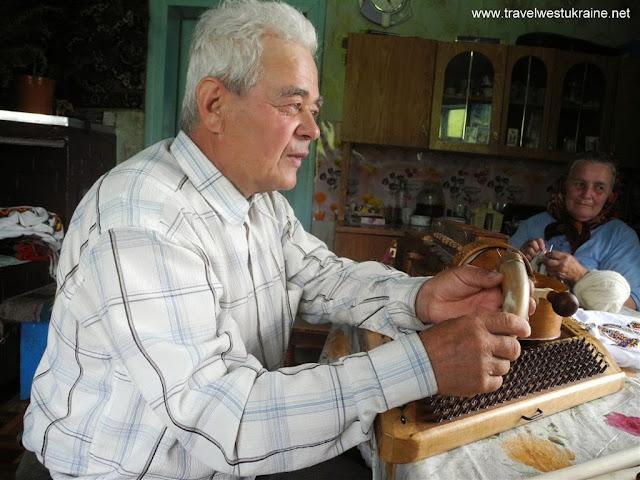 Mykhailo Tafiychuk, Ukrainian highlander, famous musical instrument maker