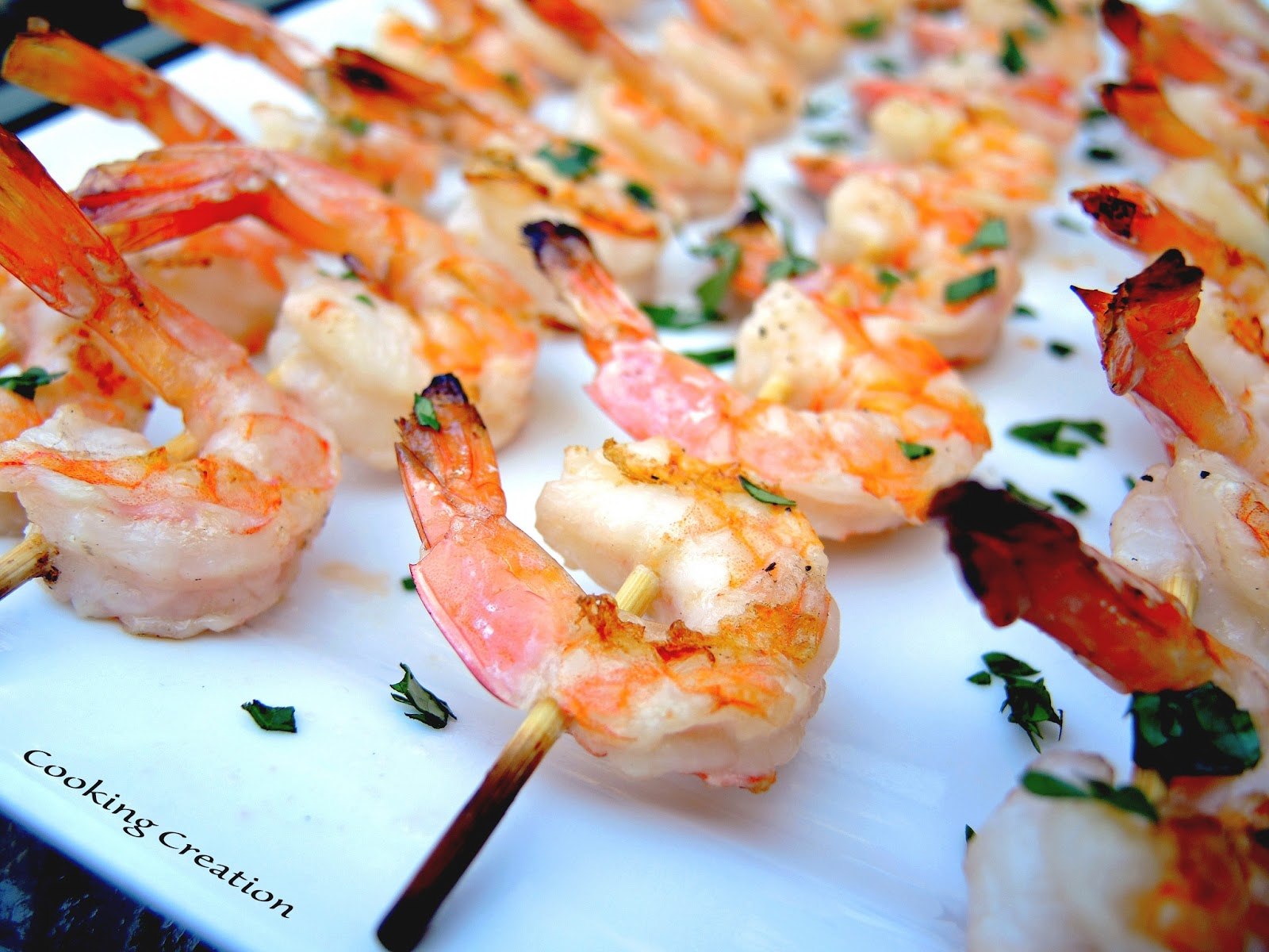 Cooking Creation: Grilled White Wine & Garlic Butter Shrimp Kabobs