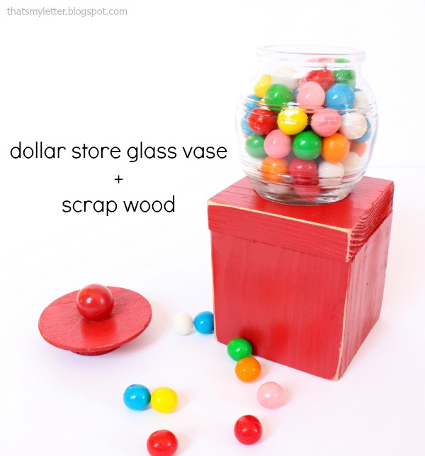 dollar store gumball machine