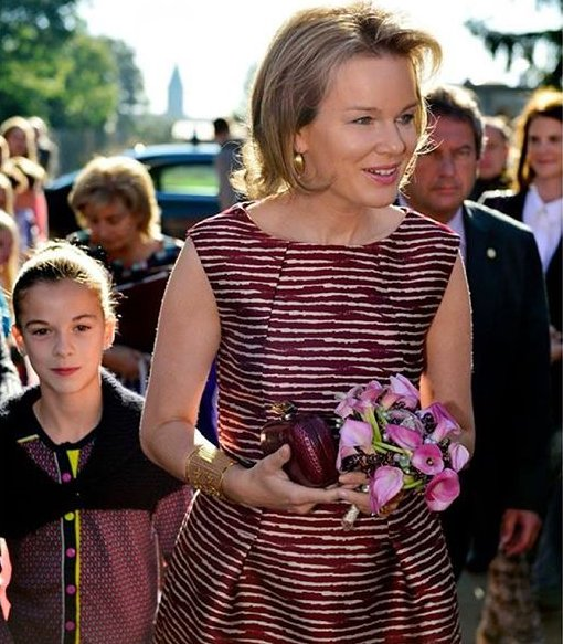 Queen Mathilde of Belgium visits Campus D'Hek in Landen