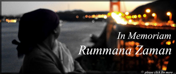 In memoriam : Rummana Zaman