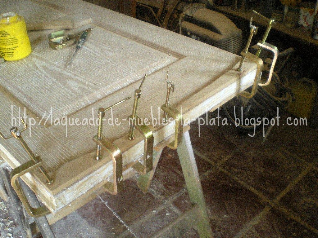 Restaurtar y laquear puertas de mdf muebles de madera - Como arreglar puertas de madera rayadas ...