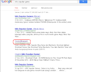 Rank Keyword Info Seputar Game