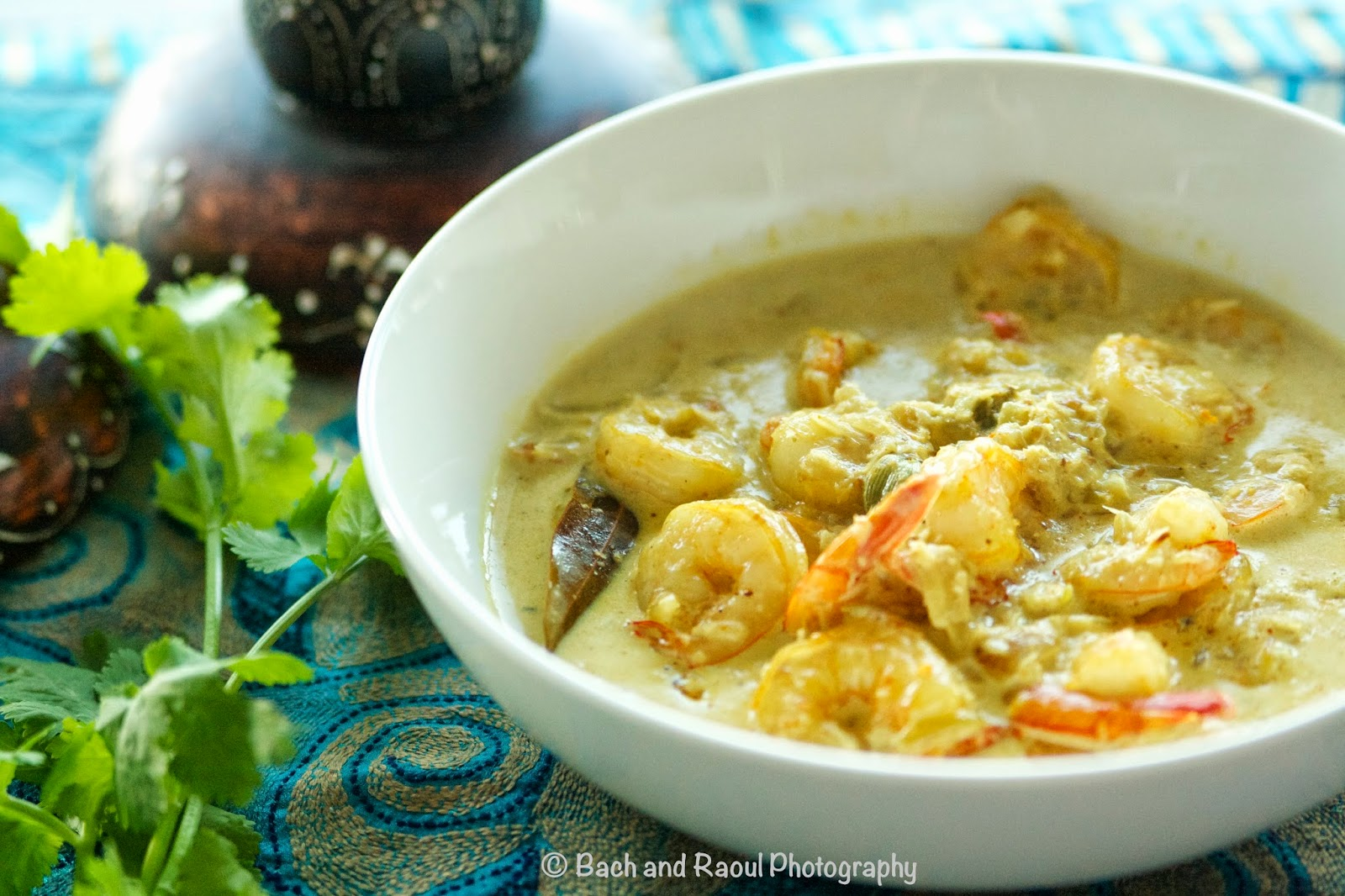 Bengali Shrimp Curry in a flavorful coconut sauce