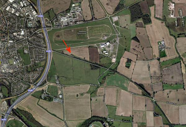 Location of the old Wetherby Race Course Railway Station