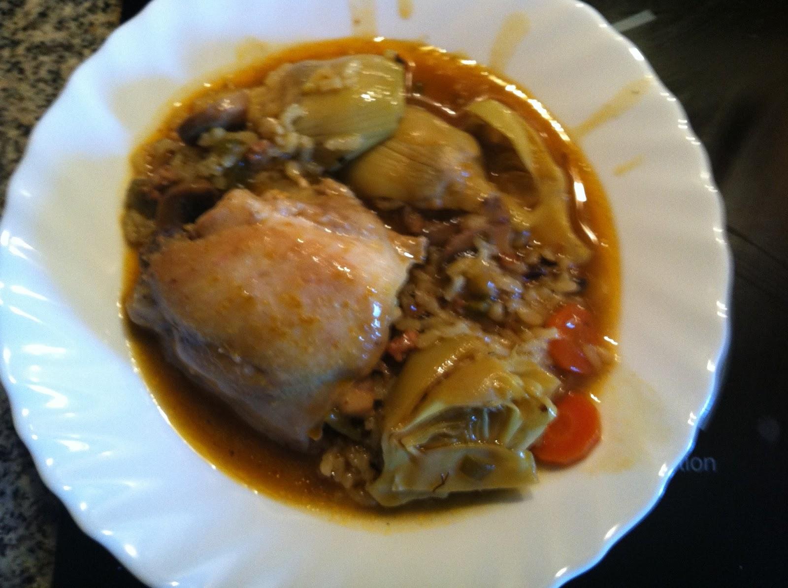 Para yantar dentro y fuera de casa arroz caldoso con - Arroz caldoso con costillas y alcachofas ...