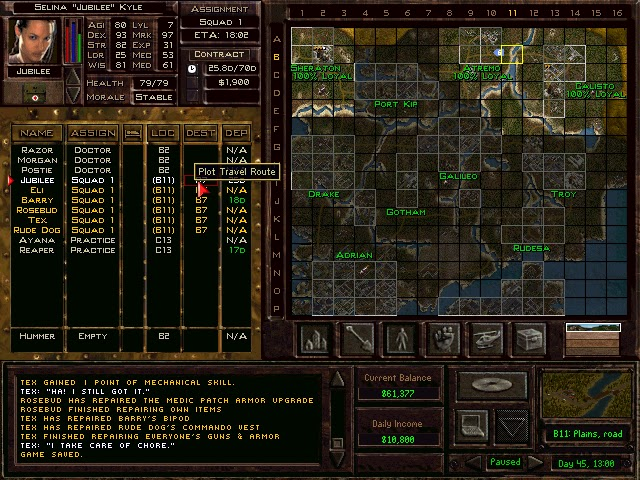 Jagged Alliance 2: Urban Chaos - Land Map Description
