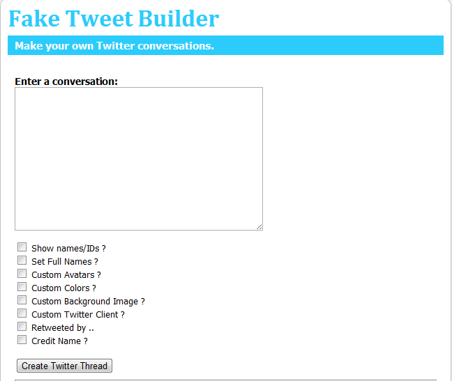 GoodinBlogging: Create Fake Twitter Tweets