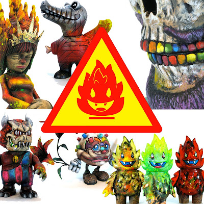 "Leecifer's ""Contemporary Conflagrations"" Custom Toy Show at Dragatomi"