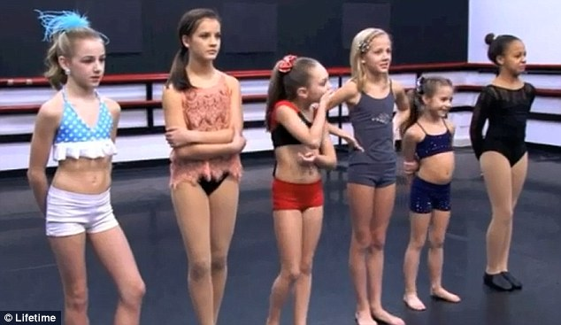 Dance moms hits a new low girls as young as eight wear bikinis and