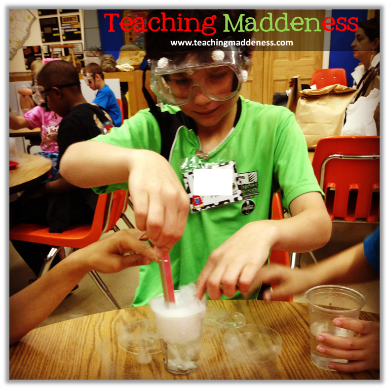 science projects with dry ice
