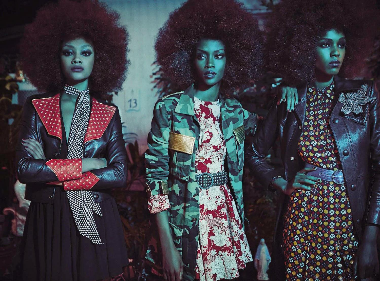 Fashion Model @ Riley Montana, Cheyenne Carty and Leila Nda by Francesco Carrozzini for Vogue Italia
