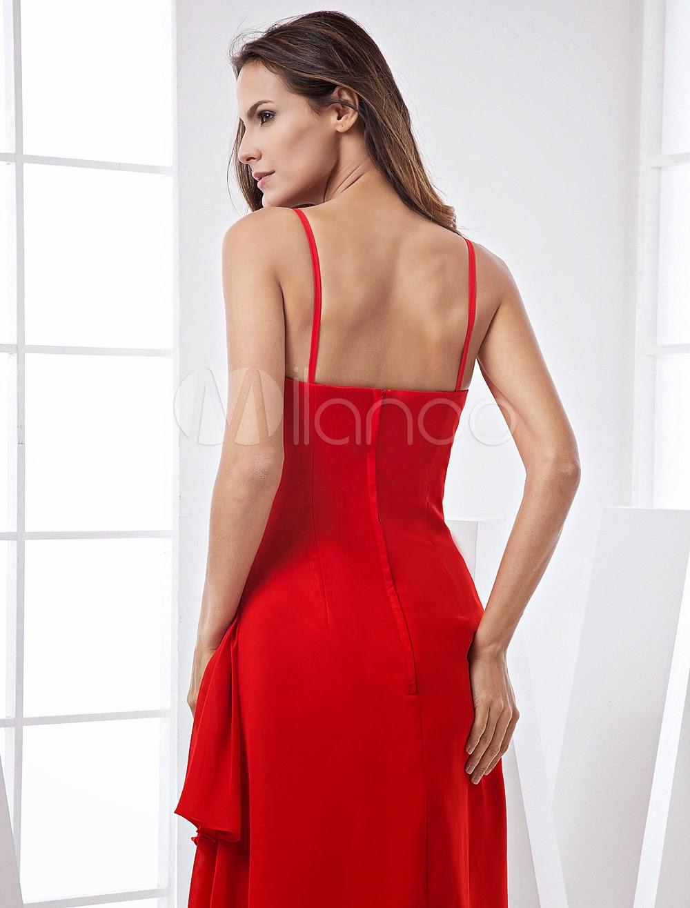 Robes sexy - Robe de soirée de retrouvaille de la mode au col-V faite en satin