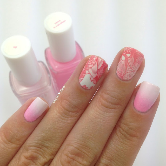 Thumbs Up Nail Wraps Rosa mit Gradient Essie Fiji und Need a Vacation