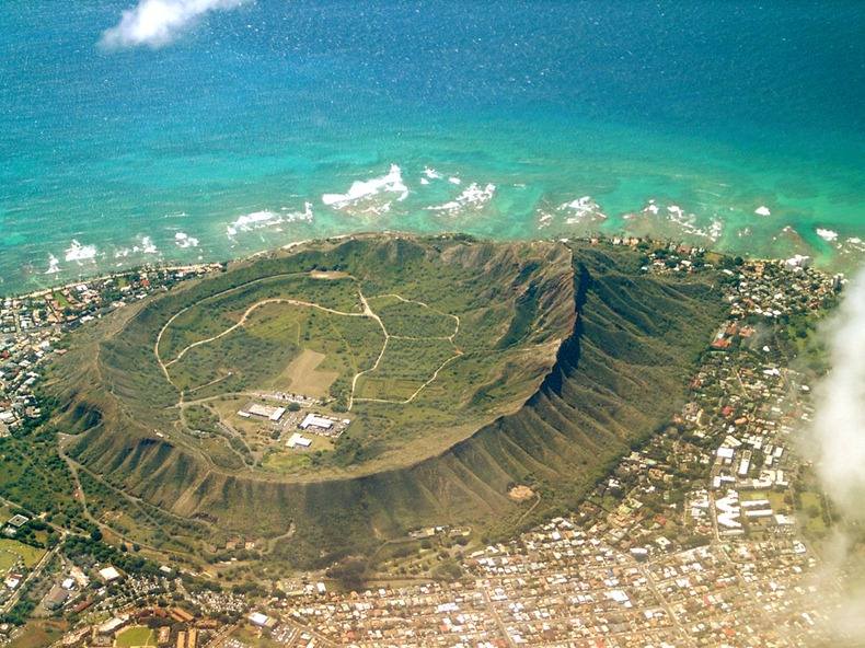 Diamond Head Volcanic Crater Hawaii