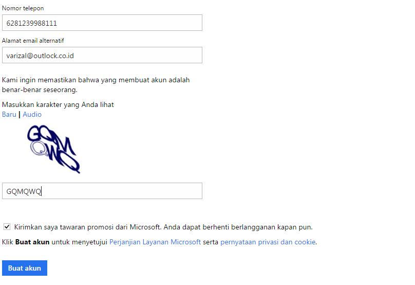 Cara daftar email akun Microsoft 2