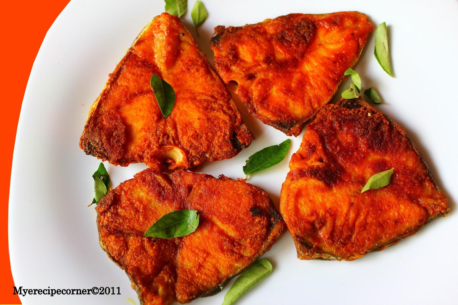 Fish Fry Recipe/ Vanjaram Meen Varuval.