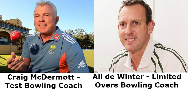 Craig-McDermott-Ali-de-Winter-Australia-Bowling-Coaches