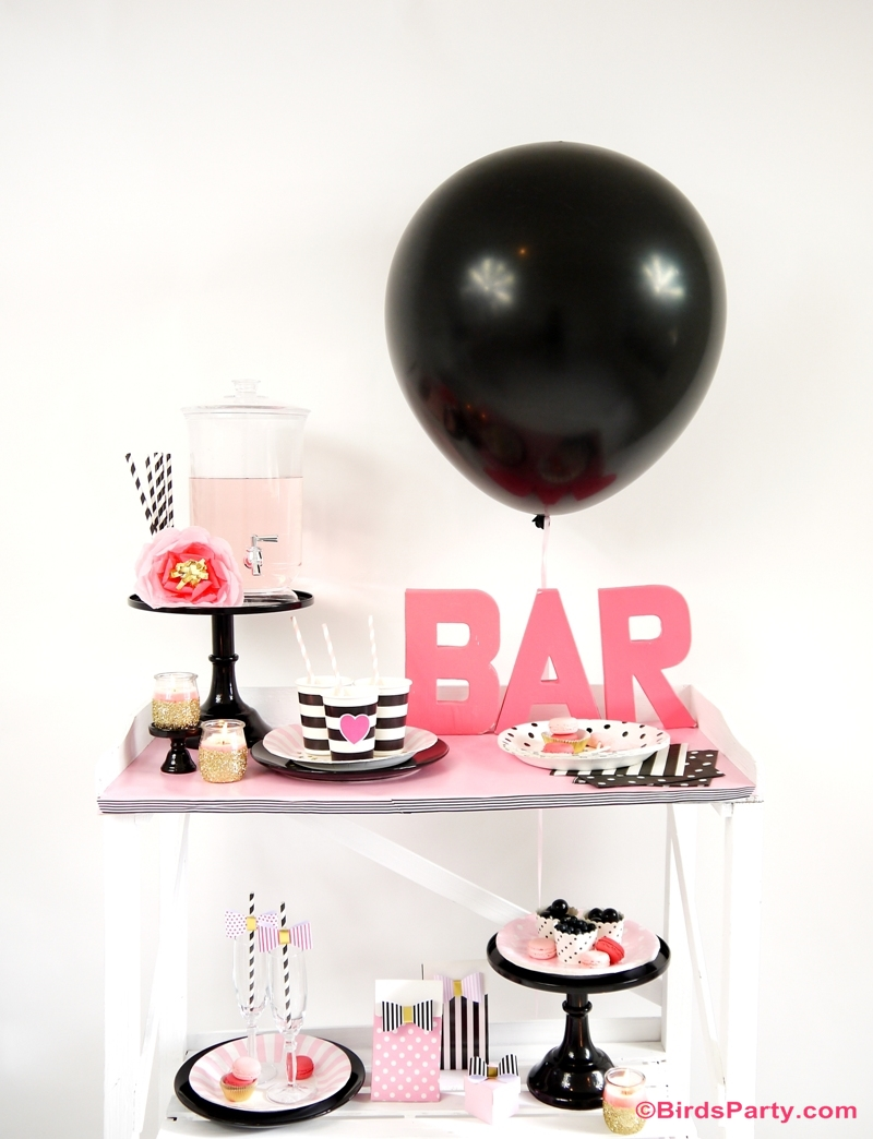 Valentine's Day Party Ideas: Galantine's Day Bar Cart Styling