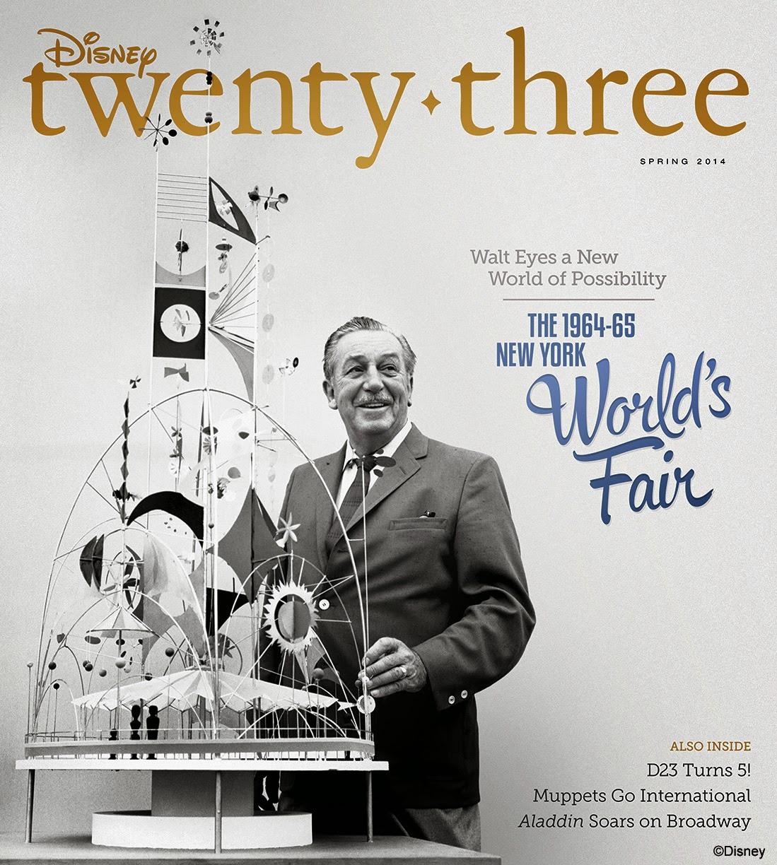Disney twenty-three Spring Issue Celebrates Disney's Contributions to the 1964–65 New York World's Fair