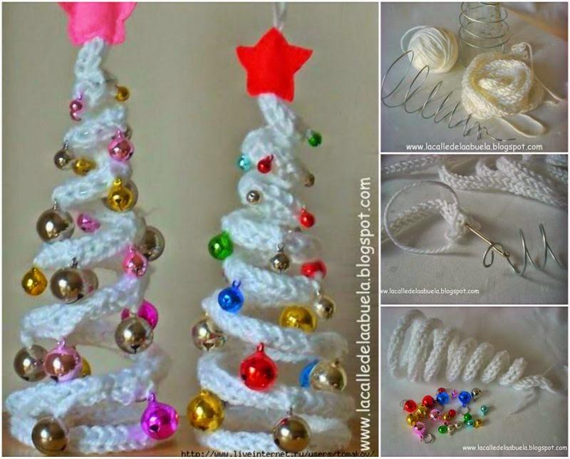 Patrones crochet - Arboles de navidad artesanales ...