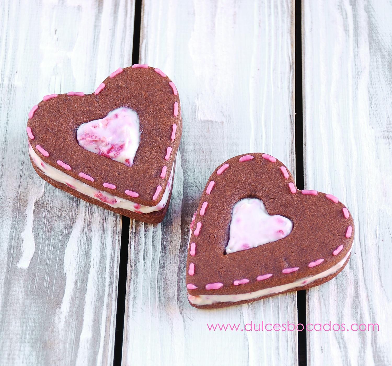 Sandwich chocolate con frambuesas - San Valentin - Dulces bocados