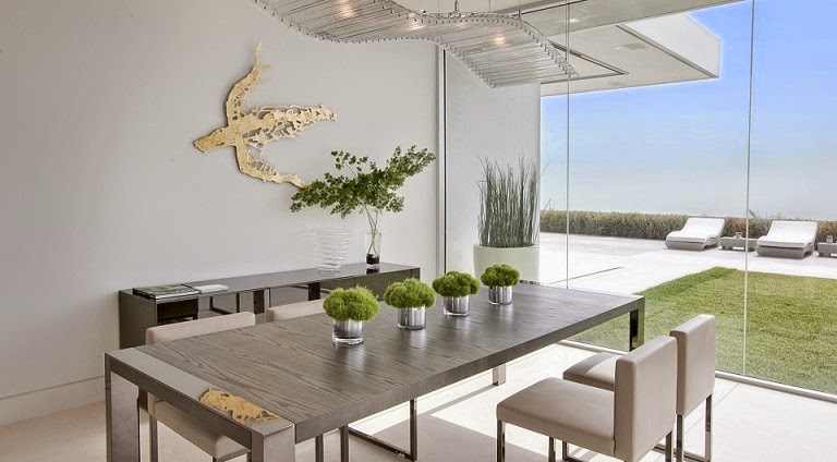 Casa minimalista beverly hills mcclean design california ee uu arquitexs - Comedor minimalista ...