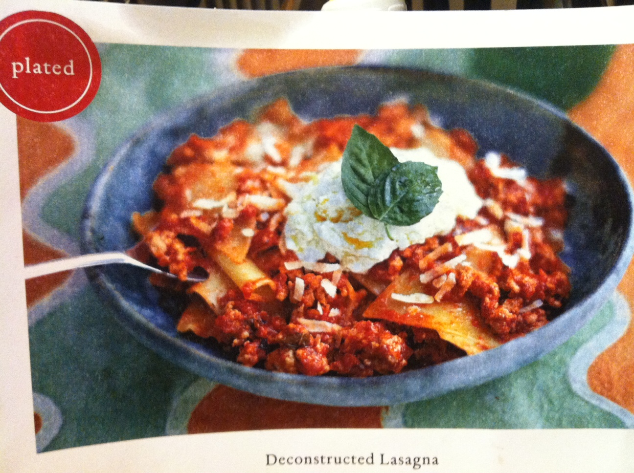 Plated Recipe: Deconstructed Lasagna