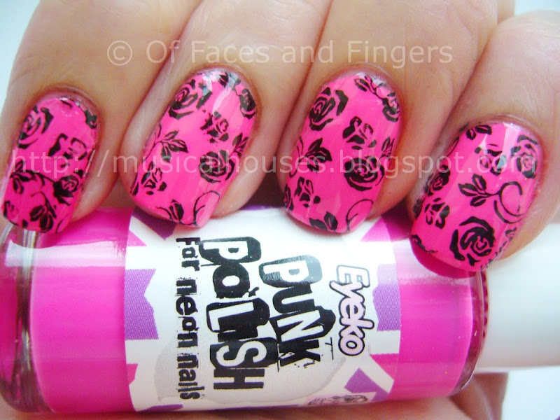 Girly punk Valentine's Day nails