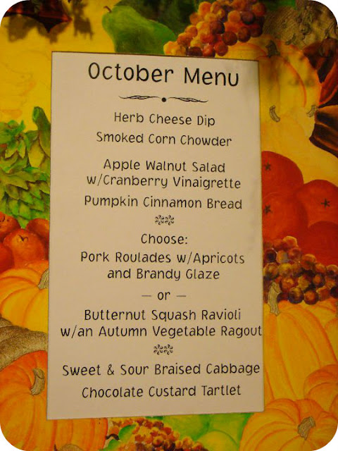 October Food at Pickity Place