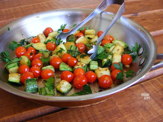 Abobrinha Sauté com Tomate Cereja