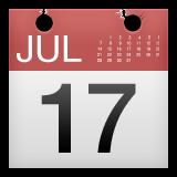 emoji calendário 17 de julho
