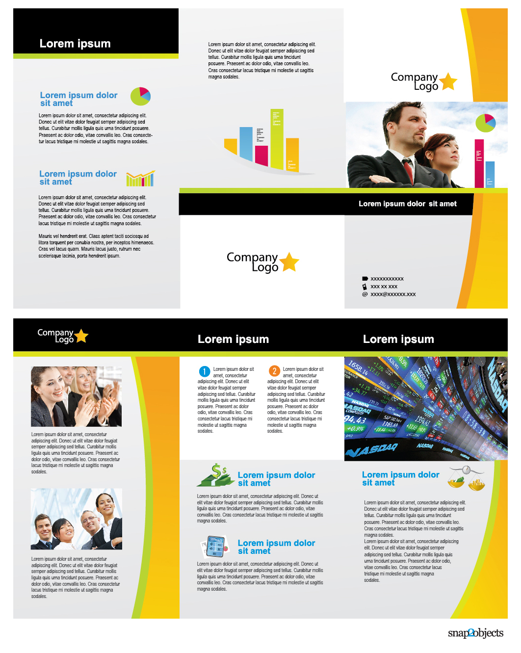 brochure illustrator template - license creative commons attribution 3 0