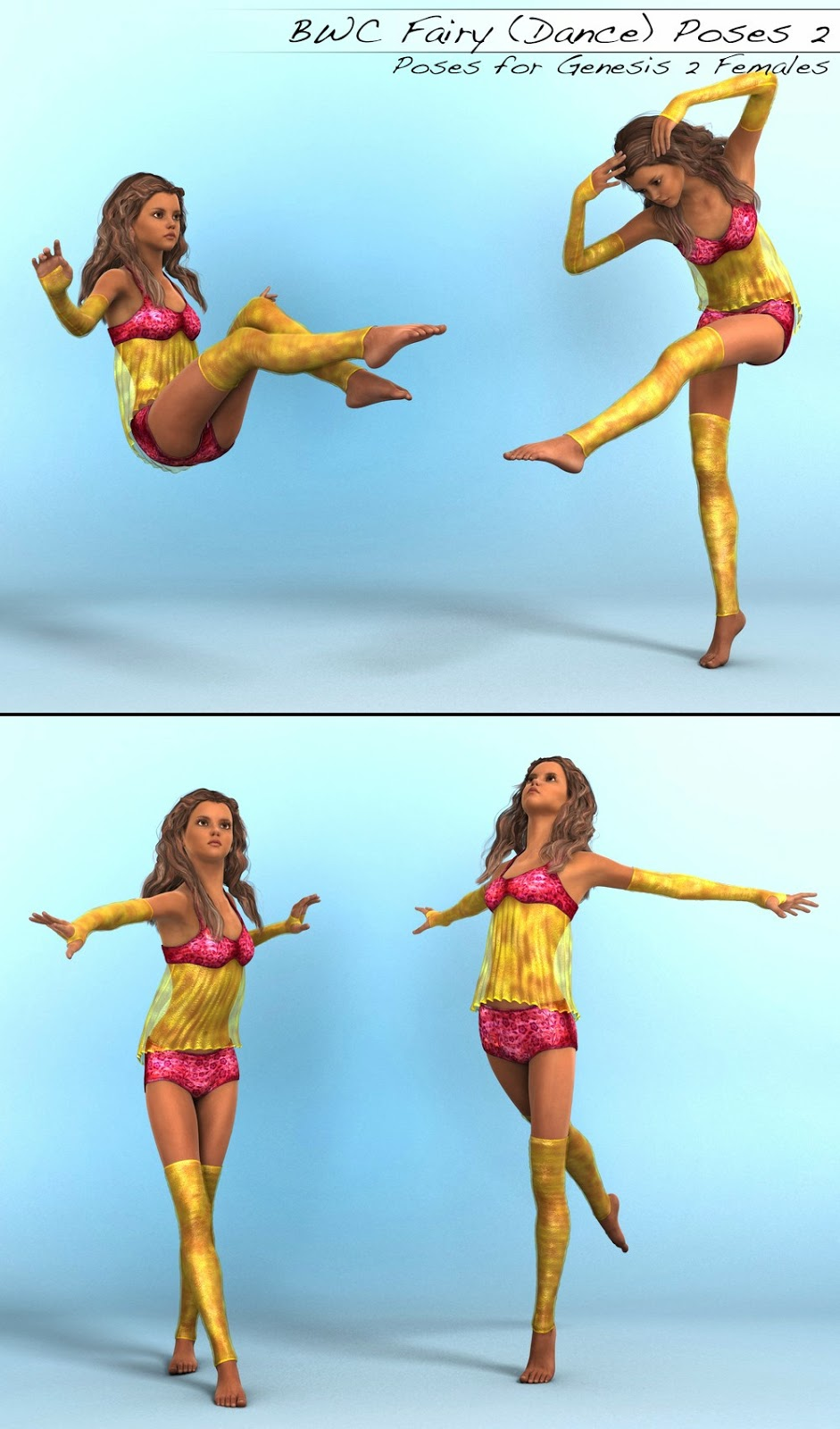 3d Models - BWC Fairy (Dance) Poses for Genesis 2 Female(s)