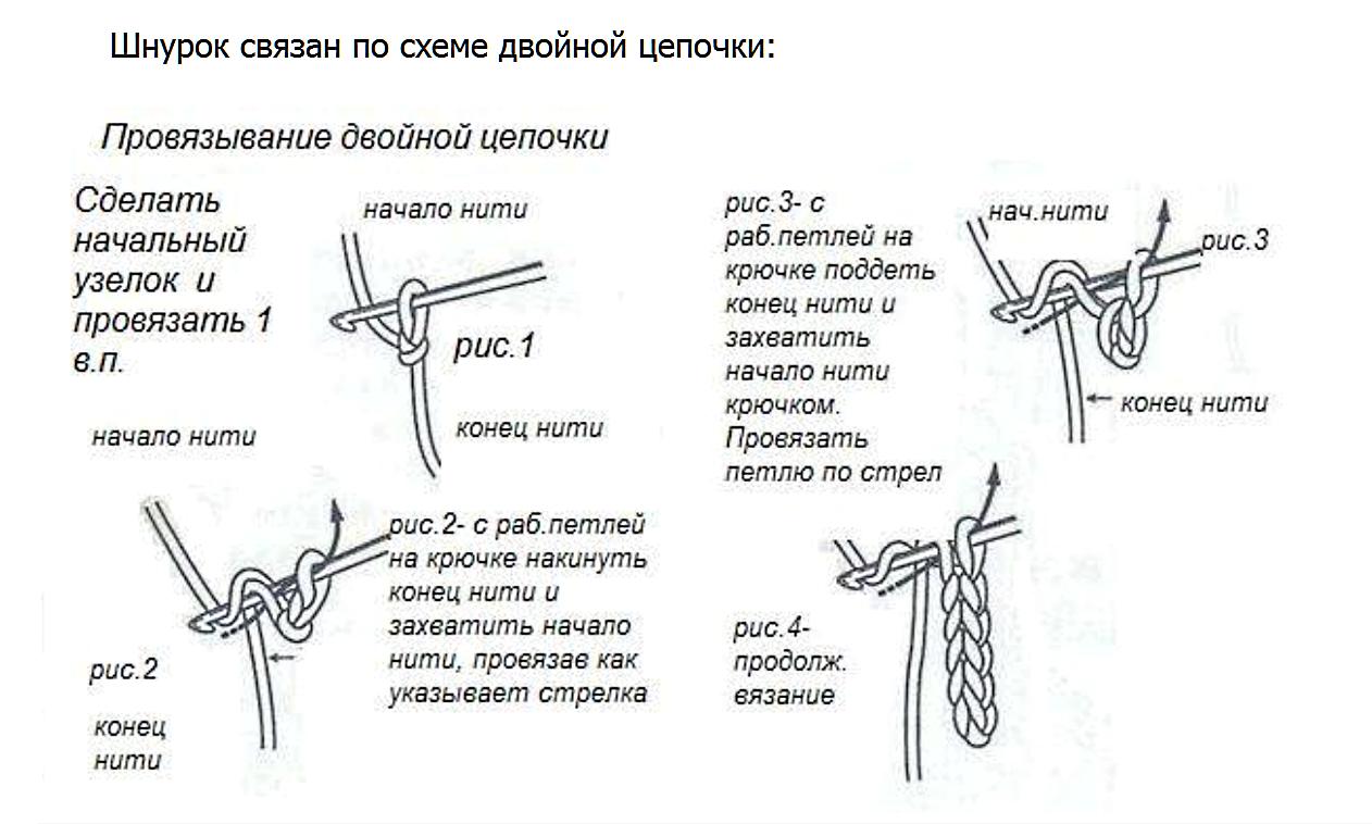 Вязание шнуров крючком для начинающих 175