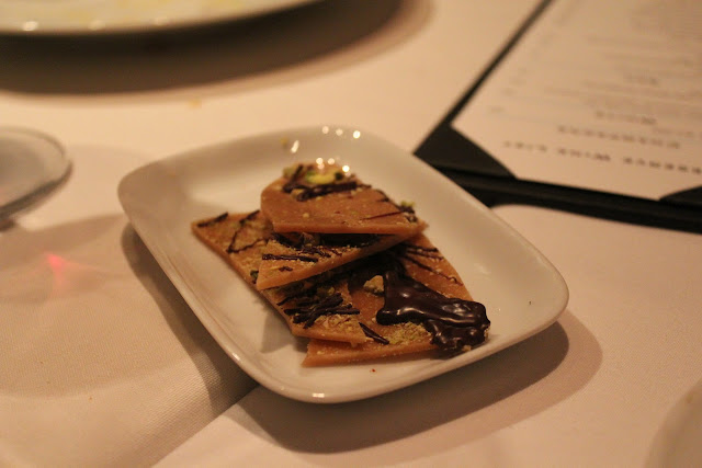 Pistachio toffee at 80 Thoreau, Concord, Mass.