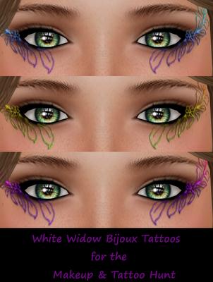 White+Widow A Sneak Peek At The Makeup & Tattoo Hunt