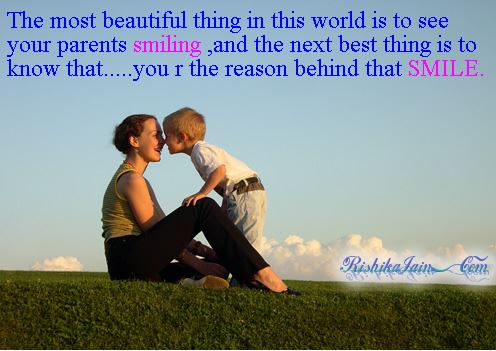 Beautiful Picture Of Mom And Son With A Nice Quote For Parent's Day