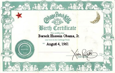 Cabbage patch kids babies doll valeria mallory with birth for Cabbage patch adoption certificate template