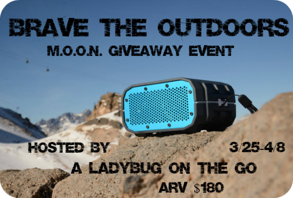 Enter the Brave the Outdoors Giveaway to win a Waterproof Bluetooth Speaker. Ends 4/8.
