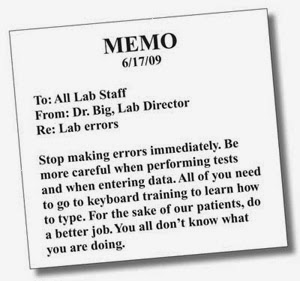 memo in english example